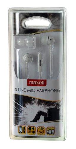 Maxell - 303565 - AURICOLARI CON MICROFONO WHITE