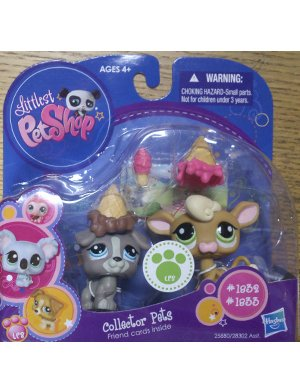 Buy Low Price Hasbro Littlest Pet Shop Collector Pet Pairs Series 1 Figures Dog Cow (B004MT2JUY)