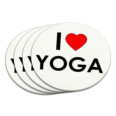 I Love Yoga-Untersetzer-Set