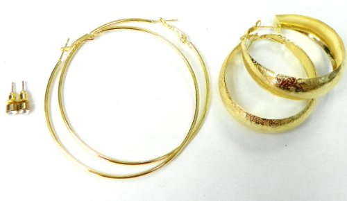 3 Set of Gold Plated Earrings Comes with Gift Box