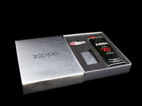 [Zippo] ZIPPO lighter gift BOX [with oil, stone]