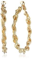 Braided Clutchless Hoop Earrings