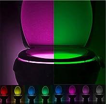 Yowao Aseo Luz del Sensor de Movimiento de Activación Automática de la luz LED de 8 Colores Cambios de Lámpara noche