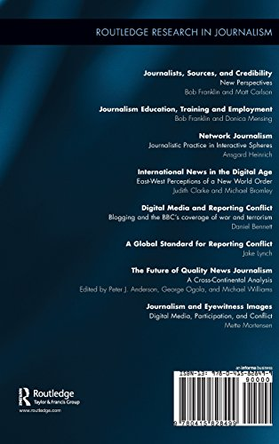 Journalism and Eyewitness Images: Digital Media, Participation, and Conflict (Routledge Research in Journalism)