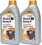 Mobil 1 Motorcycle Racing 4T 15W-50 Fully Syn Engine Oil MOB-142319-2 - 2x1L = 2 Litre