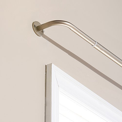 best home fashion curtain rod collection wraparound blackout curtain rod bro ebay. Black Bedroom Furniture Sets. Home Design Ideas