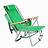 WearEver Steel Hi-Back Backpack Beach Chair - Green