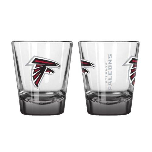 NFL Atlanta Falcons Elite Shot Glass, 2-ounce, 2-Pack
