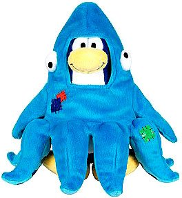 Buy Low Price Jakks Pacific Disney Club Penguin 6.5 Inch Series 3 Plush Figure Squidzoid Version 1 Includes Coin with Code! (B002G3Y5F0)