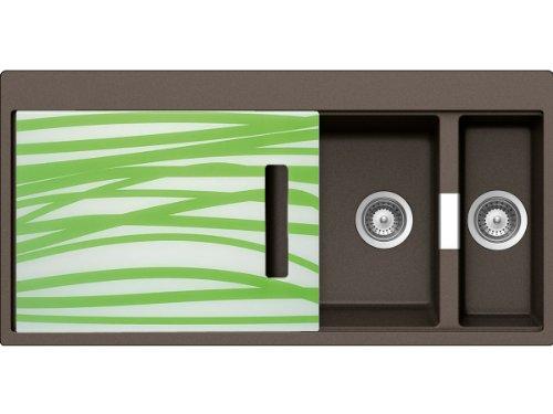 Schock Horizont D-150 A G Bronze Granit-Spüle Braun Auflage Einbauspüle Küche