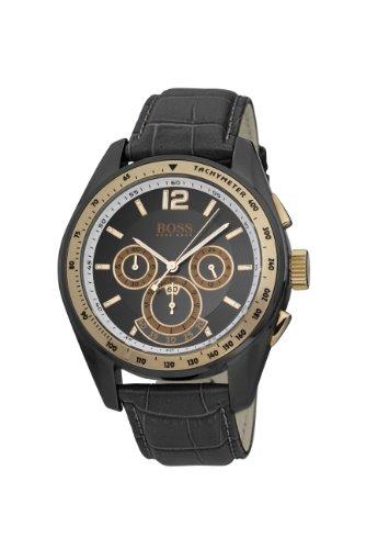 Hugo Boss 1512517 - Reloj con mecanismo de cuarzo para hombre (cronógrafo, esfera y correa grises)