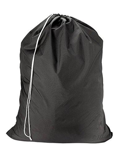 """Commercial Sac à linge en nylon très résistant de taille jumbo, noir, 22"""" x 32"""""""