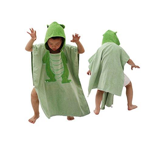 子供用 バスタオル かわいい 恐竜 GF-269 グリーン