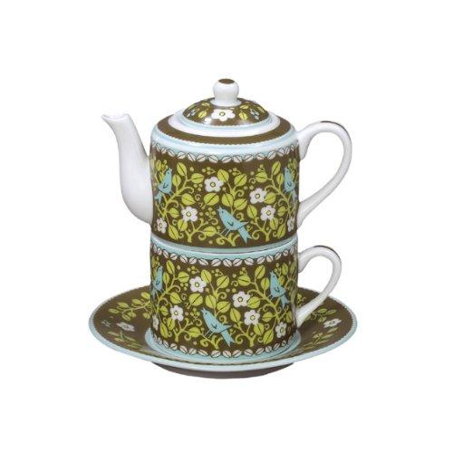 Amazon.com : Vera Bradley Tea For One Porcelain Teapot Tea Cup Mug
