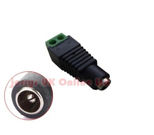New DC12v Power Jack Connector Female for CCTV DVR Camera CABLE or LED Strip ADAPTOR PLUG
