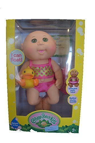 cabbage-patch-kids-tiny-newborn-splash-and-fun-caucasian-girl-doll-green-eyes-by-wicked-cool-toys
