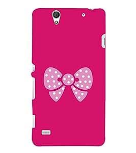 Pink Bow 3D Hard Polycarbonate Designer Back Case Cover for Sony Xperia C4 Dual :: Sony Xperia C4 Dual E5333 E5343 E5363