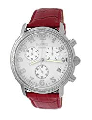 Roberto Bianci Men's 1822DIA_WHT_REDBND Diamond Accented Chronograph Date Watch