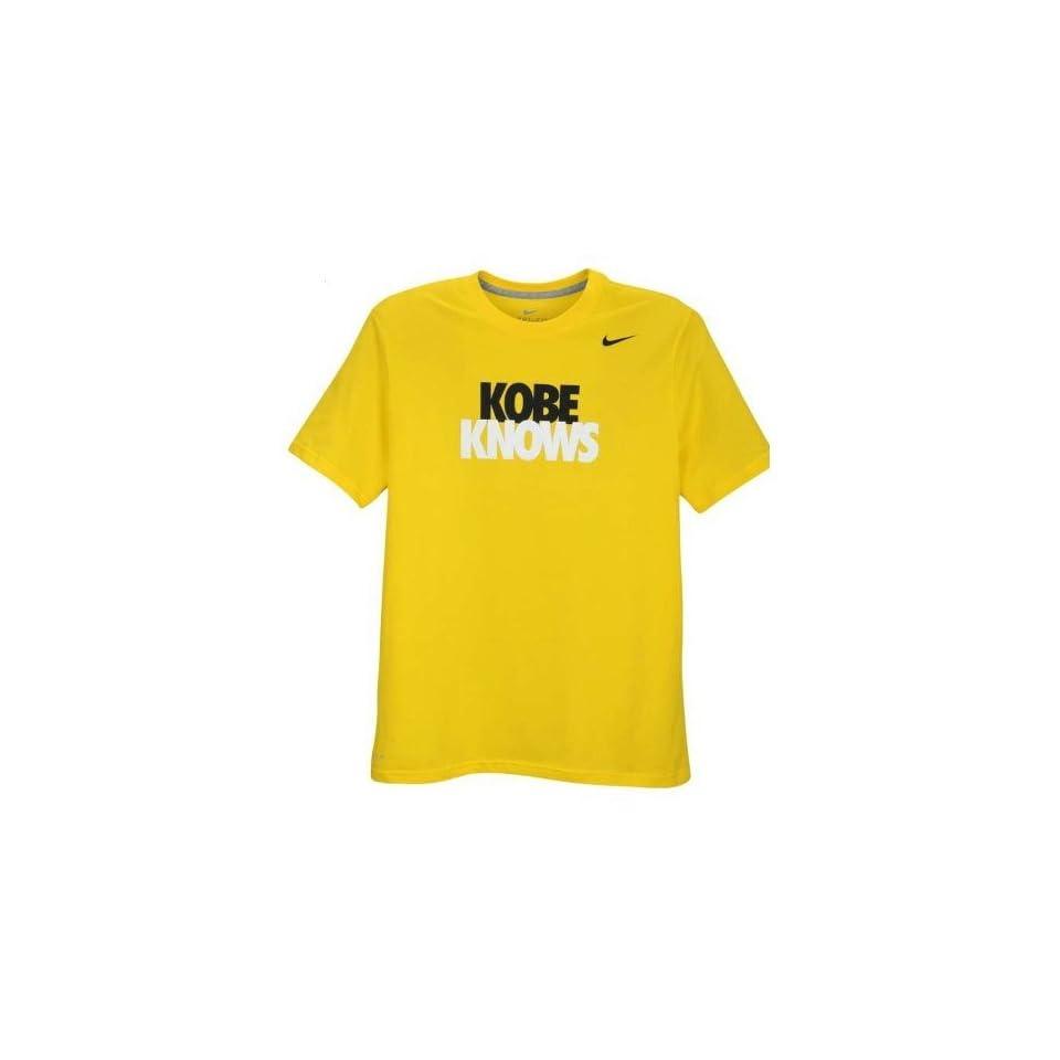 Nike Kobe Bryant KOBE KNOWS Dri Fit T Shirt Large