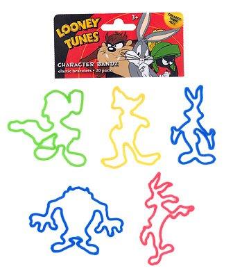 Looney Tunes Boys (Bugs) Logo Bandz Bracelets (20 Bandz Per Pack) - 1
