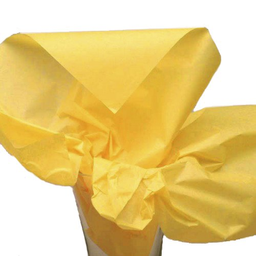 Dress My Cupcake DMC79475 50-Piece Tissue Paper, 20 by 14-Inch, Sunflower Yellow