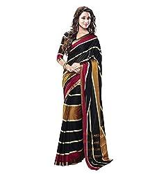 Glory Sarees Women's multi color saree jari102