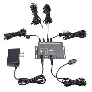 AGPtek IR Remote Control Extender 4 Emitters 1 Receiver Infrared IR Repeater Hidden System Kit DC
