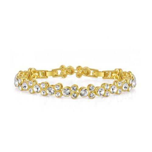 NEVI Swarovski Elements 18k Gold Plated Charm Bracelet For Women