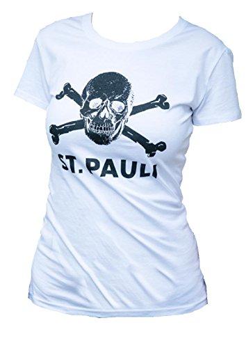 FC St. Pauli teschio I Maglietta da donna, bianco