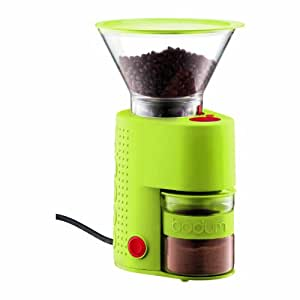 Bodum Bistro Electric Burr Coffee Grinder, Green