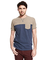 North Coast Pure Cotton Colour Block T-Shirt