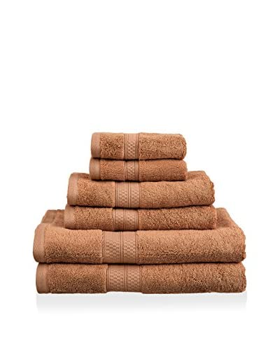Superior 6-Piece 650 GSM Rayon from Bamboo Towel Set, Cocoa