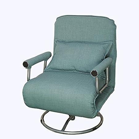 Divano letto Divano pigro pieghevole a rotelle Divano singolo multifunzione Sedile Può essere lavato e lavato , blue