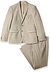 Park Avenue Men's Classic Suit (8907253108939_PMDS02814-F2_96_Light Fawn)
