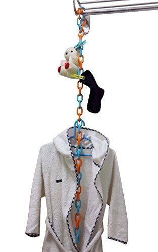 Baby Toy Storage/Closet Organizer. Long 40 inches. (Orange&Blue) - 1