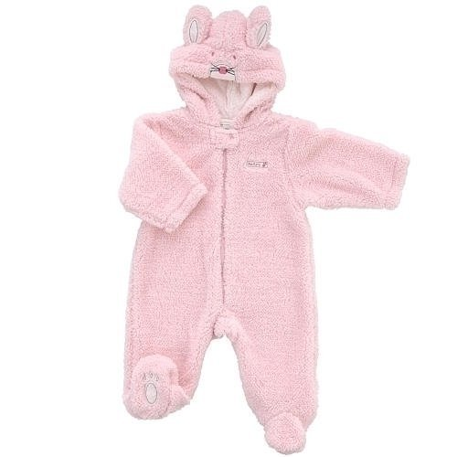 Little Me Girl's Bunny Fuzzy Pram - Pink (3-6 Months) - 1