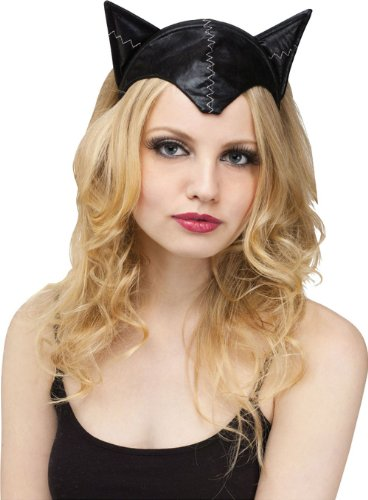 Black Cat Adult Ears Headband and Tail