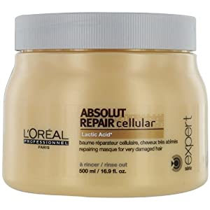 L'Oreal Professionnel Serie Expert Absolut Repair cellular with Lactic Acid, 16.9 Ounce Jar
