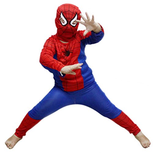 Misscat Kids Spider-man Halloween Performance Costume Masquerade Cosplay Suit Hot