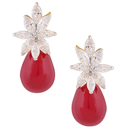 swasti-jewels-floral-zircon-cz-red-stones-fashion-jewelry-floral-stud-earrings-for-women