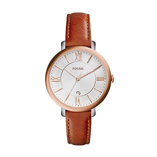 fossil-womens-es3842-jacqueline-rose-gold-tone-stainless-steel-watch-with-brown-leather-band