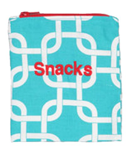 Caught Ya Lookin' Reusable Snack Bag, Turquoise - 1