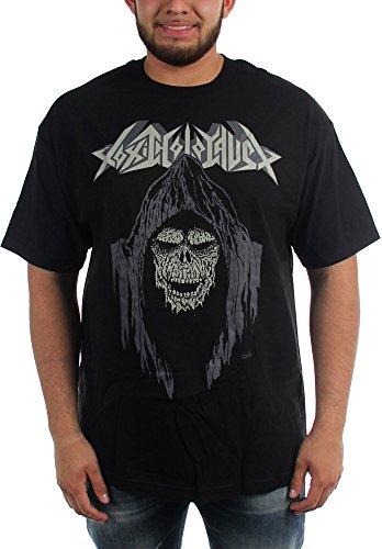 Toxic Holocaust-Dead-Maglietta da uomo con cappuccio Nero  nero