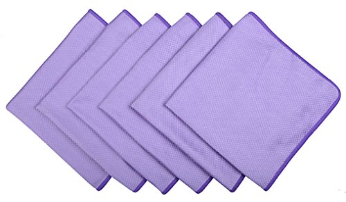Microfiber Cleaning cloth for Stainless Steel Appliances Glass Window Cleaning Cloths(pack of 6)