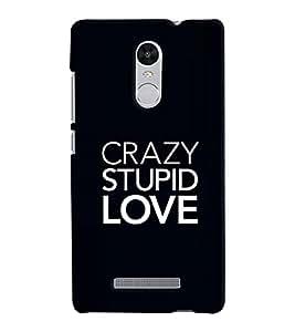 Chiraiyaa Designer Printed Premium Back Cover Case for Xiaomi Redmi Note 3 (crazy stupid love) (Multicolor)