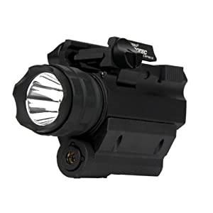 Nebo 6110-RM190LSR iProTec Elite High-Powered Firearm Light with Laser, Black, Left/Right