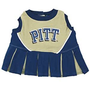 Pets First Pittsburgh University Dog Cheerleader Outfit, Small