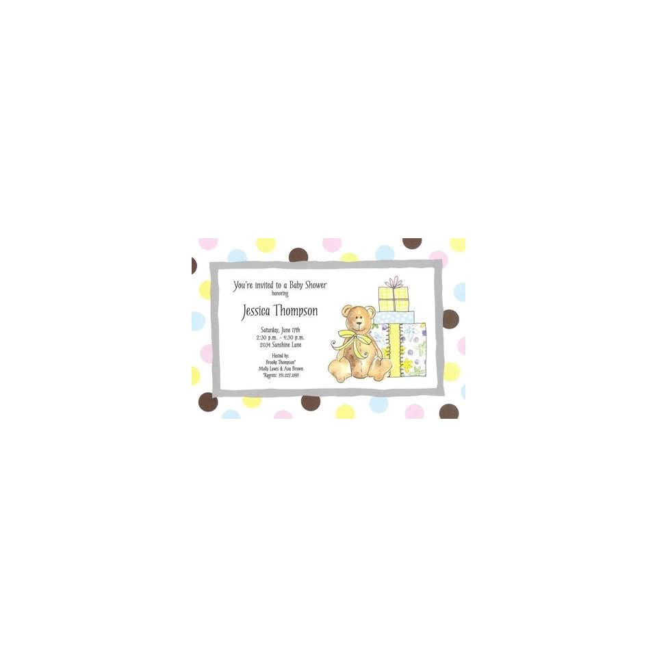 Baby Shower Bear, Custom Personalized Baby Shower Invitation, by Inviting Company