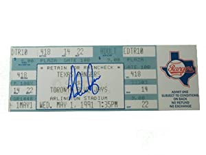 Texas Rangers Nolan Ryan Autographed Signed May 1, 1991 7th Career No Hitter Mini... by Southwestconnection-Memorabilia