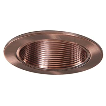 4 inch copper trim recessed can light replaces halo 953ac 6 pack a. Black Bedroom Furniture Sets. Home Design Ideas